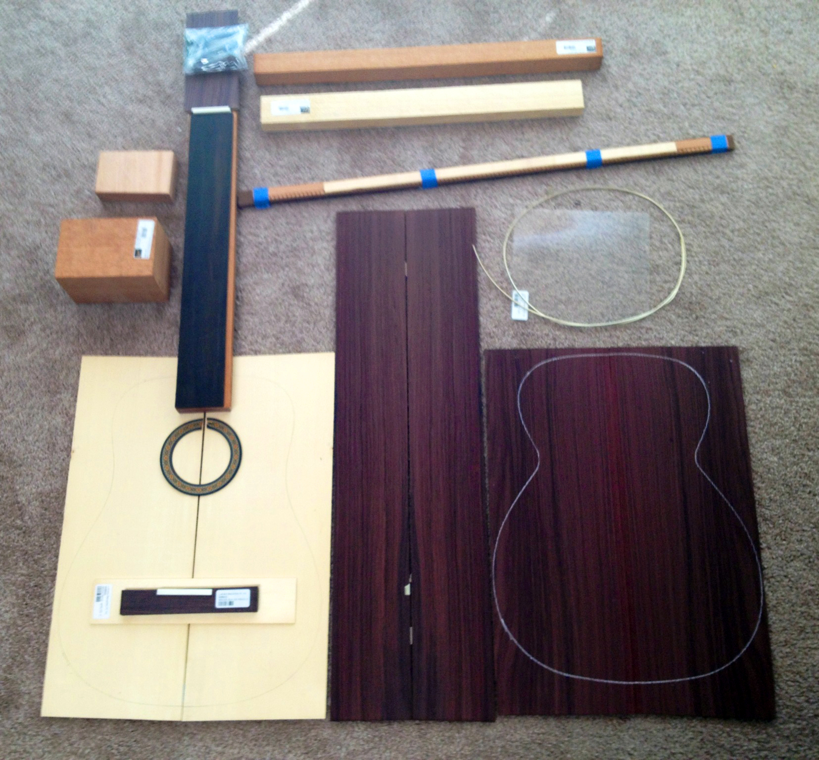 Building A Flamenco Guitar : The beginning to now