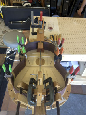 Building A Flamenco Guitar : Braced, Sides, Neck, Back, and JACK!