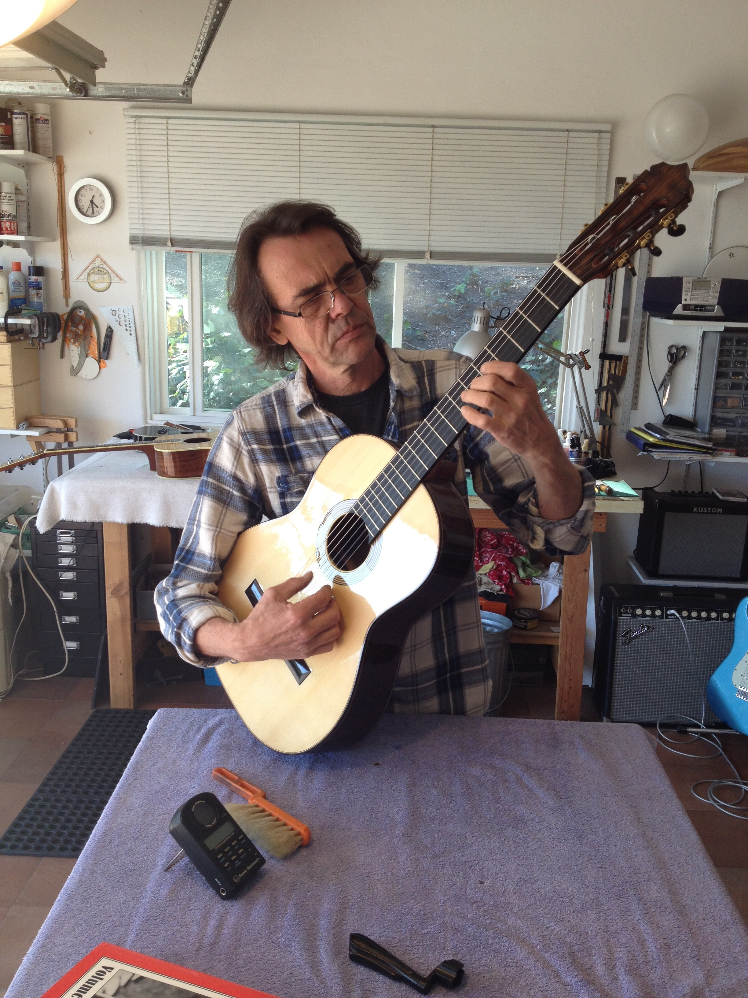This is what happens when you hang out with a master Luthier for about a year…